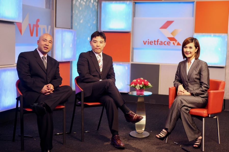 Viet Face TV show with Thuy Nhung and CG Japan Suichi Sudo